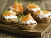 Chestnut Flour Blini with Smoked Salmon