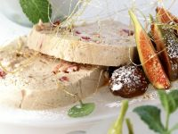 Chestnut Parfait with Figs and Glazed Chestnuts
