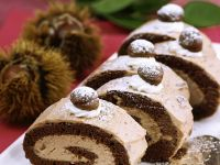 Chestnut Roulade with Cream