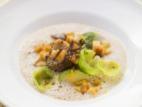 Chestnut Soup with Brussels Sprouts recipe