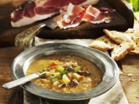 Chestnut, Vegetable and Bacon Soup recipe