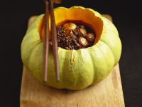 Chestnuts, Pumpkin and Lentils in Pumpkin Shell recipe