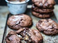 Chewy Dark Cocoa Cookies recipe