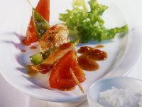 Chicken and Bell Pepper Skewers recipe