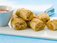 Chicken and Cheese Puff Pastries recipe