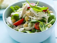 Chicken and Chickpea Salad with Spinach recipe