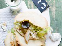 Gourmet Chicken and Grape Sandwiches recipe