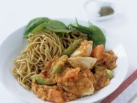 Chicken and Lentils with Noodles recipe