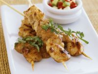 Chicken and Peanut Skewers with Salad recipe