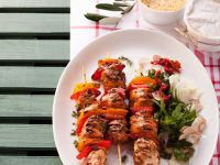 Chicken and Pepper Skewers recipe