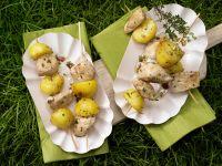 Chicken and Potato Skewers recipe