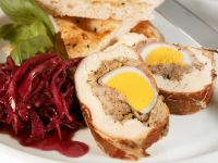 Chicken and Prosciutto Roulades Stuffed with Egg and Pork recipe