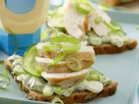 Chicken and Scallion Open-Faced Sandwiches recipe