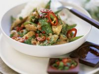 Chicken and Sugar Snap Peas in Coconut Curry Sauce recipe