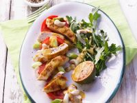 Chicken and Tomato Salad with Curry Dressing