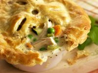 Individual Creamy Chicken Puff Pastry Pies recipe