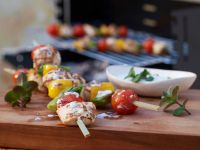 Chicken and Vegetable Skewers recipe