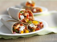 Chicken and Vegetable Tortillas recipe