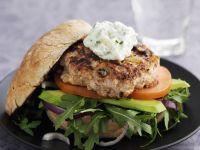 Chicken, Avocado, Rocket and Tomato Buns recipe