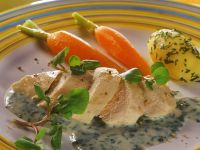 Chicken Breast Fillet with Watercress Sauce recipe
