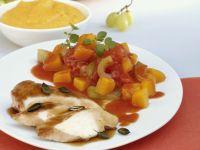 Chicken Breast Fillets with Pumpkin Ragout recipe