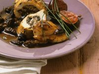 Chicken Breast Stuffed with Pork and Morels recipe