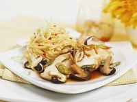 Chicken Breast with Shiitake Mushrooms and Noodles recipe