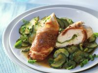 Chicken Breast Wrapped in Prosciutto with Zucchini recipe