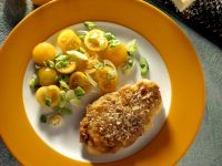 Chicken Breasts with Anchovy Crust and Cherry Tomato Salad recipe