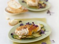 Chicken Breasts with Cheddar, Zucchini and Mint recipe