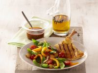 Chicken Breasts with Spicy Oil and Vegetable Salad recipe