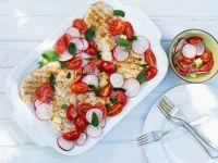 Chicken Breasts with Tomato and Radish Salad recipe