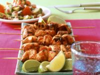 Chicken Brochettes with Salad recipe