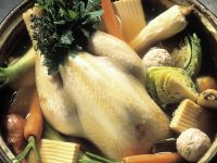 Chicken Broth with Vegetables and Dumplings recipe