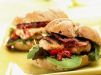 Chicken Patty and Bacon Buns recipe