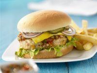 Chicken Burger with Salsa recipe