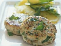 Chicken Burgers with Cucumber and Potato Salad recipe