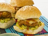 Chicken Burgers with Guacamole and Salsa recipe