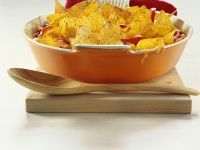 Chicken, Corn and Beans in Tomato Sauce with Tortilla Chips recipe
