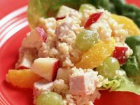 Chicken Couscous with Fruity Salad recipe