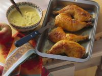 Chicken Drumsticks with Spicy Banana and Apple Sauce recipe