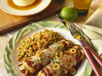 Chicken Enchiladas with Olives recipe
