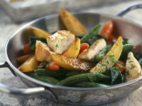 Chicken, Green Bean, and Potato Saute recipe