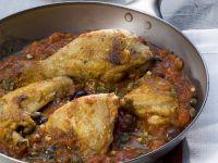 Chicken in Olive and Tomato Sugo recipe