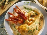 Chicken Legs with Crawfish and Sauce recipe