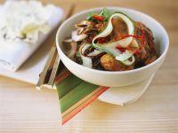 Chicken Legs with Zucchini and Wild Rice recipe