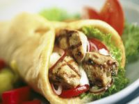 Chicken, Lettuce and Tomato Wraps recipe