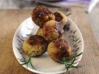 Chicken Meatball Rosemary Skewers recipe