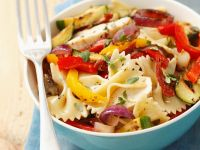 Chicken Pasta Salad with Grilled Vegetables recipe