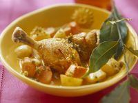 Chicken Pieces with Nuts and Root Veg recipe
